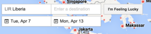 I'm Feeling Lucky Google Flights